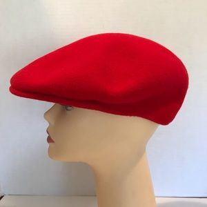 Vintage Kangol Mens Red Wool Hat Size Extra Large